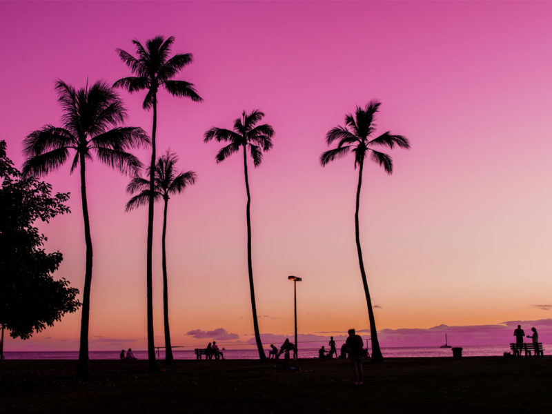 ハワイピンクサンセット