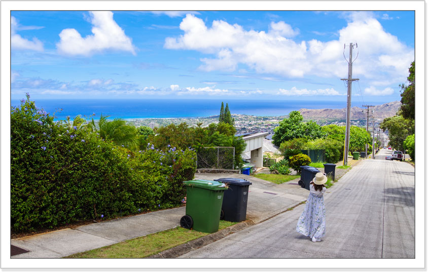 ハワイ・カイムキの坂道